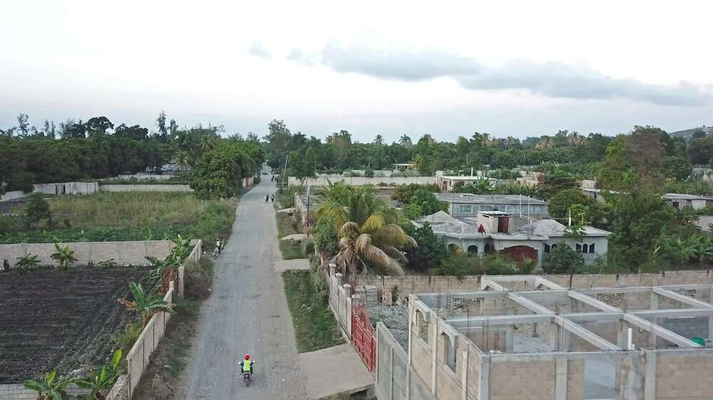 Ariel photo of village in Haiti